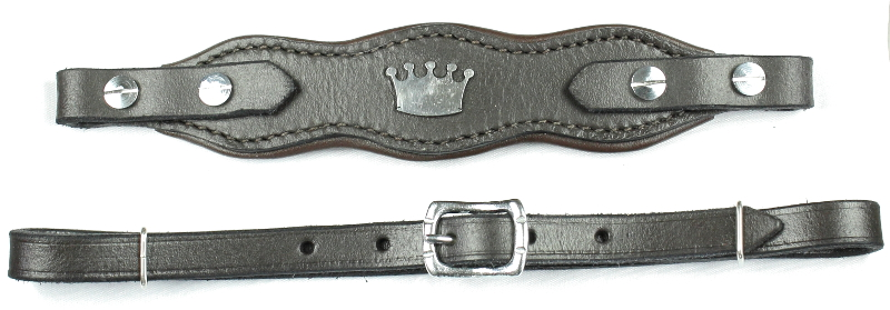 Hackamore straps Crown  brown/steel