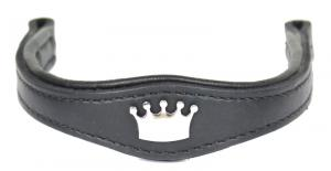 Brow Band for Plain headstall Black Stainless