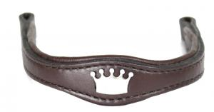 Brow Band for Plain headstall Brown Stainless