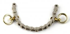 Caveson nose steel Chain Brass 2 rings