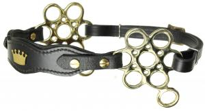 Flower hackamore Crown  Black Brass