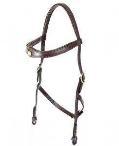 Hackamore Headstall  Brown/Brass