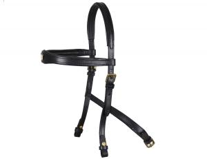 Hackamore Headstall  black/brass