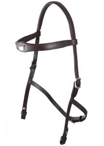 Hackamore Headstall  brown/steel