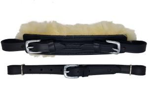 Hackamore straps Fur black/steel