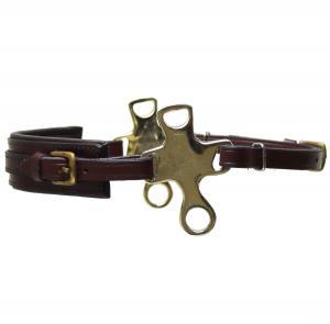 Short Shank Hackamore  Brown Brass Neoprene
