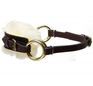 Sidepull Semi Fur Brown Brass