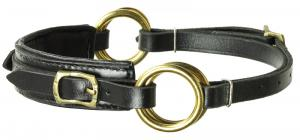 Sidepull Semi Neoprene Black Brass