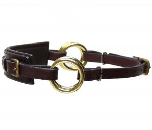Sidepull Semi Neoprene Brown Brass