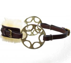 Star wheel Hackamore  Brown Brass Fur