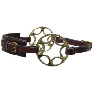 Star wheel Hackamore  Brown Brass Neoprene