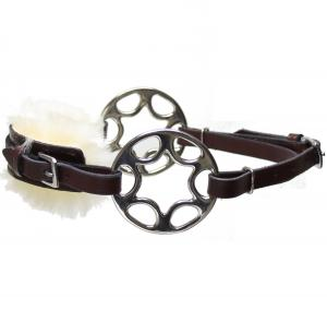 Star wheel Hackamore  Brown Stainless Fur
