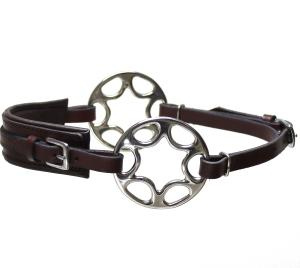 Star wheel Hackamore  Brown Stainless Neoprene