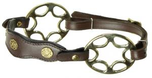 Star wheel hackamore academic Brown Brass
